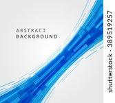 digital geometric lines... | Shutterstock .eps vector #389519257