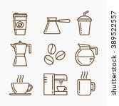 coffee icon set | Shutterstock .eps vector #389522557
