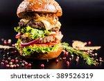 Juicy Delicious Burger With...