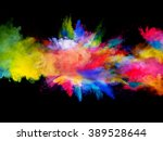 explosion of colored powder on... | Shutterstock . vector #389528644