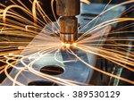 spot welding industrial... | Shutterstock . vector #389530129