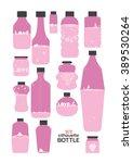 bottles silhouettes love... | Shutterstock .eps vector #389530264