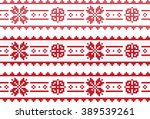 traditional slavic embroidery... | Shutterstock .eps vector #389539261