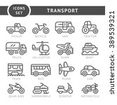 set line icons of transport | Shutterstock .eps vector #389539321