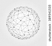 vector illustration wireframe... | Shutterstock .eps vector #389541535