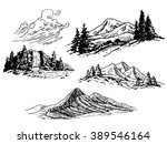 Hand Drawn Mountains...