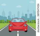 picture of car on the road with ... | Shutterstock .eps vector #389547454