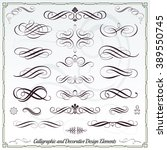 calligraphic decorative... | Shutterstock .eps vector #389550745