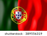3d weaving flag   portugal. | Shutterstock . vector #389556319