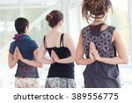 yoga mudra and yoga poses. | Shutterstock . vector #389556775