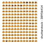 vector pumpkin smileys | Shutterstock .eps vector #38956414