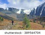 backpacker go into the... | Shutterstock . vector #389564704