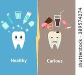 dental cartoon vector  compare...   Shutterstock .eps vector #389574274