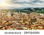 panorama of florence from above ... | Shutterstock . vector #389584084