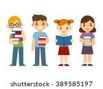 cute cartoon children with... | Shutterstock . vector #389585197