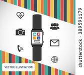 technology icon design  | Shutterstock .eps vector #389591179