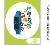 technology icon design  | Shutterstock .eps vector #389592247