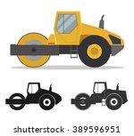road roller | Shutterstock .eps vector #389596951