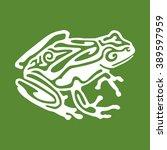 White Outline Frog Icon...