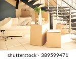 packed household goods for... | Shutterstock . vector #389599471
