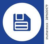 floppy disc. vector icon blue...
