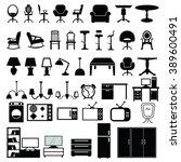 furniture icon set. furniture...
