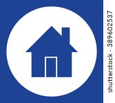 house. vector icon blue and...