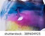 Watercolor Splash. Abstract...