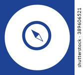 compass. vector icon blue and...
