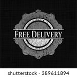 free delivery with chalkboard... | Shutterstock .eps vector #389611894