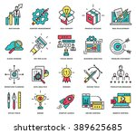 thin line icons set. business... | Shutterstock .eps vector #389625685