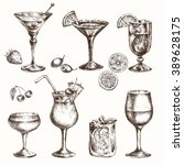 cocktail set. elements for the... | Shutterstock .eps vector #389628175