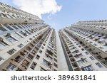 bottoms up view of a highrise... | Shutterstock . vector #389631841