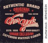 new york denim typography  t... | Shutterstock .eps vector #389640334