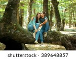 young happy couple | Shutterstock . vector #389648857