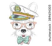french bulldog in the captain's ...   Shutterstock .eps vector #389654305