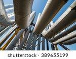 outdoor pipelines in the... | Shutterstock . vector #389655199