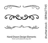abstract vector design elements ... | Shutterstock .eps vector #389667745