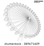 ferris wheel. vector... | Shutterstock .eps vector #389671609