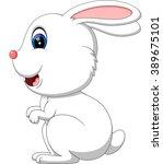 illustration of cute rabbit... | Shutterstock . vector #389675101
