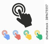 touch   vector icon.... | Shutterstock .eps vector #389675557