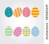 easter eggs for easter holidays ... | Shutterstock .eps vector #389682649