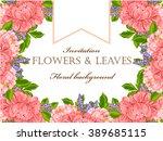 romantic invitation. wedding ... | Shutterstock . vector #389685115
