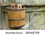 The Old Wood Pail For Water