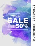 summer sale vector | Shutterstock .eps vector #389690671