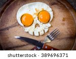 Two Fried Eggs In The Shape Of...