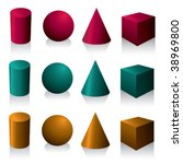 isolated geometric objects.... | Shutterstock .eps vector #38969800