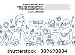 flat style  thin line art... | Shutterstock .eps vector #389698834