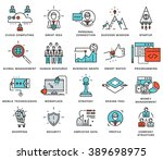 thin line icons set. business... | Shutterstock .eps vector #389698975