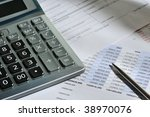 the calculator and the... | Shutterstock . vector #38970076